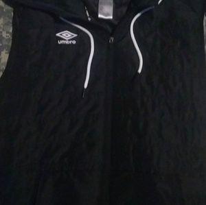 Umbro Black sleeveless puffer jacket vest